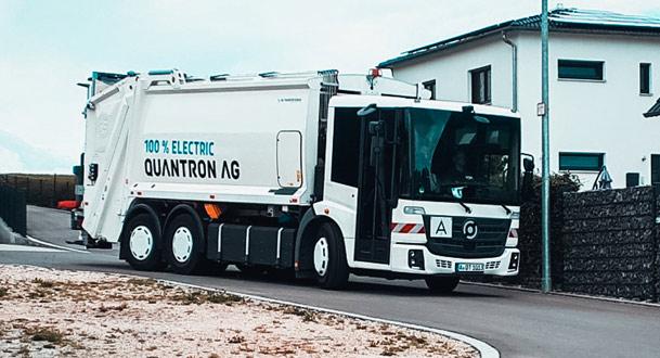 Die Quantron AG ermöglicht mittels dem Quantron e-Econic QHB 27-280 eine leise und CO2-freie Abfallsammlung