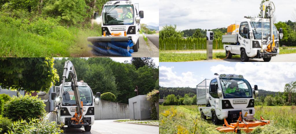 Der 100% elektrische Q-ELION in der M- und T-Serie bietet vielfältige Einsatzmöglichkeiten für Kommunen und Unternehmen