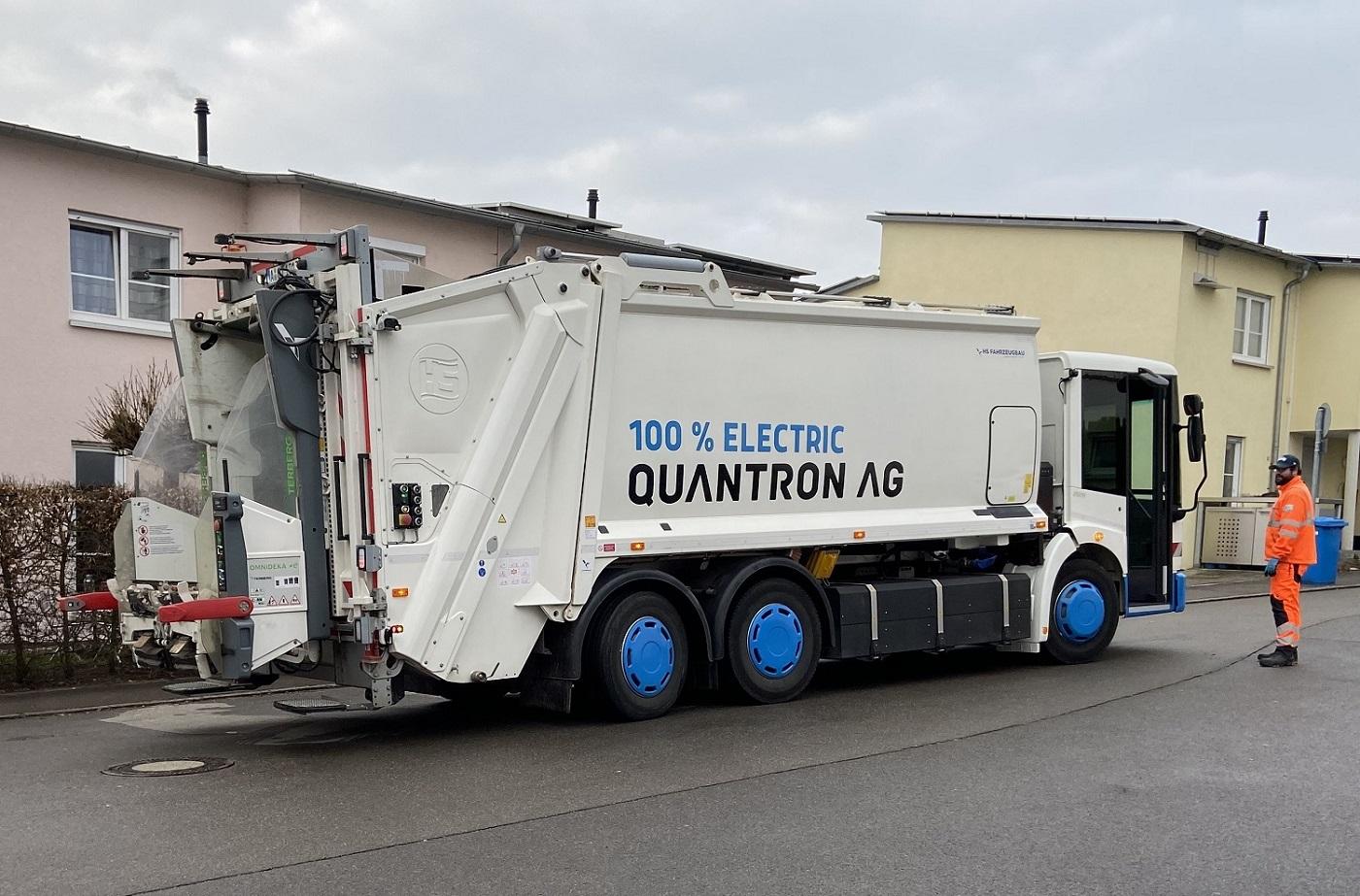 Stadt Ulm testet elektrisches Müllfahrzeug von QUANTRON