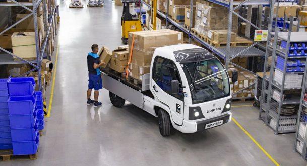 Der umweltfreundliche Transporter Q-ELION (T-Serie) der Quantron AG