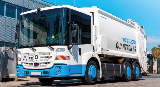 Das vollelektrische Müllentsorgungsfahrzeug Q-Econic der Quantron AG.